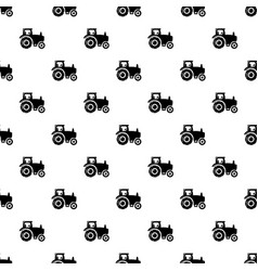 tractor pattern seamless vector image