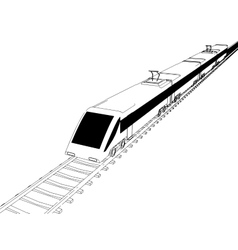 Train outline vector image