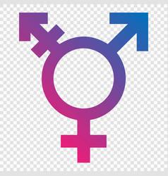 Transgender symbol vector