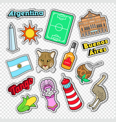 travel to argentina doodle argentinian stickers vector image