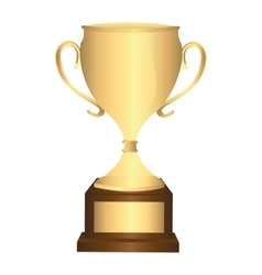 trophy award winner icon vector image