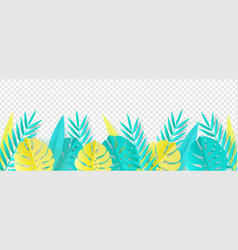 tropical leaves in paper art vector image