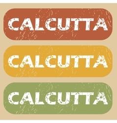 Vintage Calcutta stamp set vector image