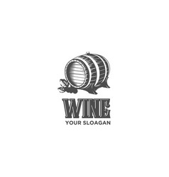 Vintage wine drum vector