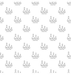 volumetric flask icon outline vector image
