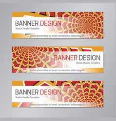 web header design red orange banner template vector image