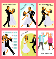 wedding dance lessons vector image