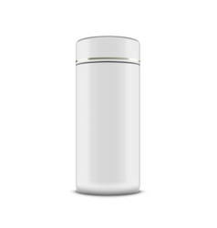 White plastic metal or cardboard cylindrical tube vector