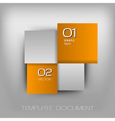 business four squares orange II with text vector image