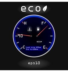 Dashboard temp fuel vector image vector image