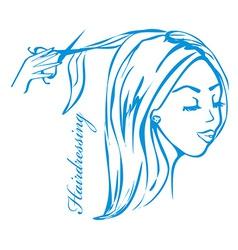 Hairdresser salon logo vector
