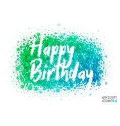 Happy birthday beautiful design element for vector image