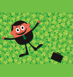 lucky businessman cartoon vector image vector image