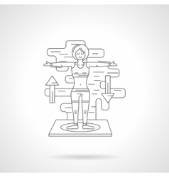 Sport exercises detail line icon vector image vector image