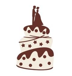 wedding cake isolated icon design vector image vector image
