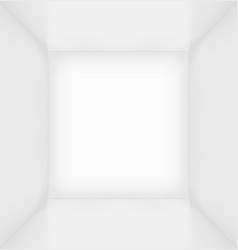 White simple empty room interior vector image