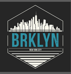 brooklyn new york graphic t-shirt design tee vector image