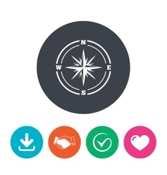 Compass sign icon Windrose navigation symbol vector image vector image