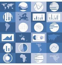 flat design world maps graphics vector image