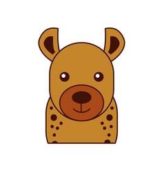 wild hyena isolated icon vector image