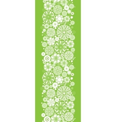 Abstract green and white circles vertical seamless vector image
