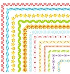 Big set of decorative art brushes Seamless vector image vector image
