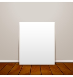 Blank frame paper sheet on wall background and vector image vector image