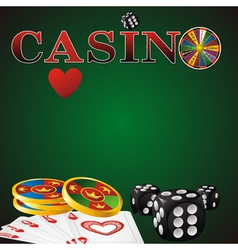 casino green vector image vector image