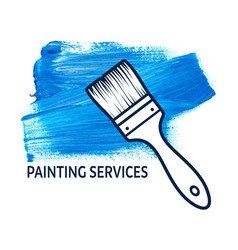 concept for house painting services vector image vector image