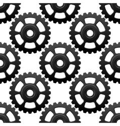 Gear wheels or cogwheels seamless pattern vector image