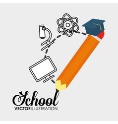 school pencil graduation elements icon vector image
