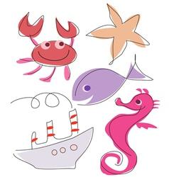sea marine life vector image