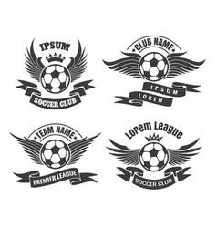 soccer club emblem set vector image