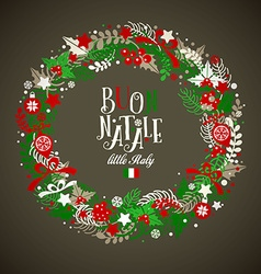 Christmas wreath holiday background vector