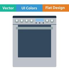 Kitchen main stove unit icon vector image vector image
