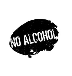 no alcohol rubber stamp vector image vector image