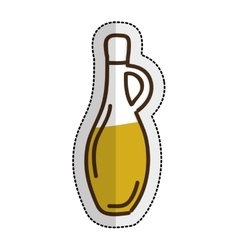 olive oil bottle isolated icon vector image vector image