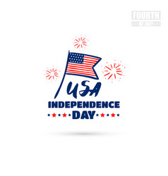 usa independence day badge vector image vector image
