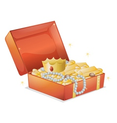 a jewellery and a box vector image
