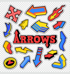arrow isolated collection for stickers prints vector image