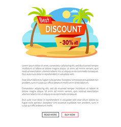 best discount 30 off summer hot sale poster tropic vector image