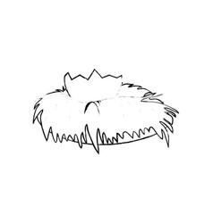 bird nest icon vector image
