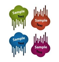Blank flowing speech bubble labels vector