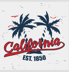 california typography for design clothes vector image