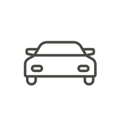 car icon line auto symbol vector image