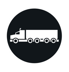 car truck container model transport vehicle block vector image