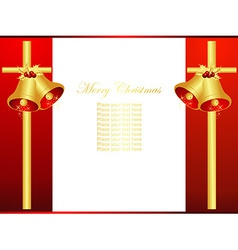 Christmas bells design vector