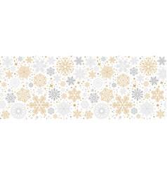 christmas card with snowflake border vector image