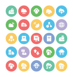 Cloud Computing Icons 2 vector