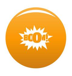 Comic boom big icon orange vector